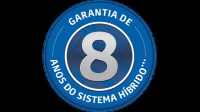 Garantia de oito anos para o sistema híbrido<sup>7</sup>