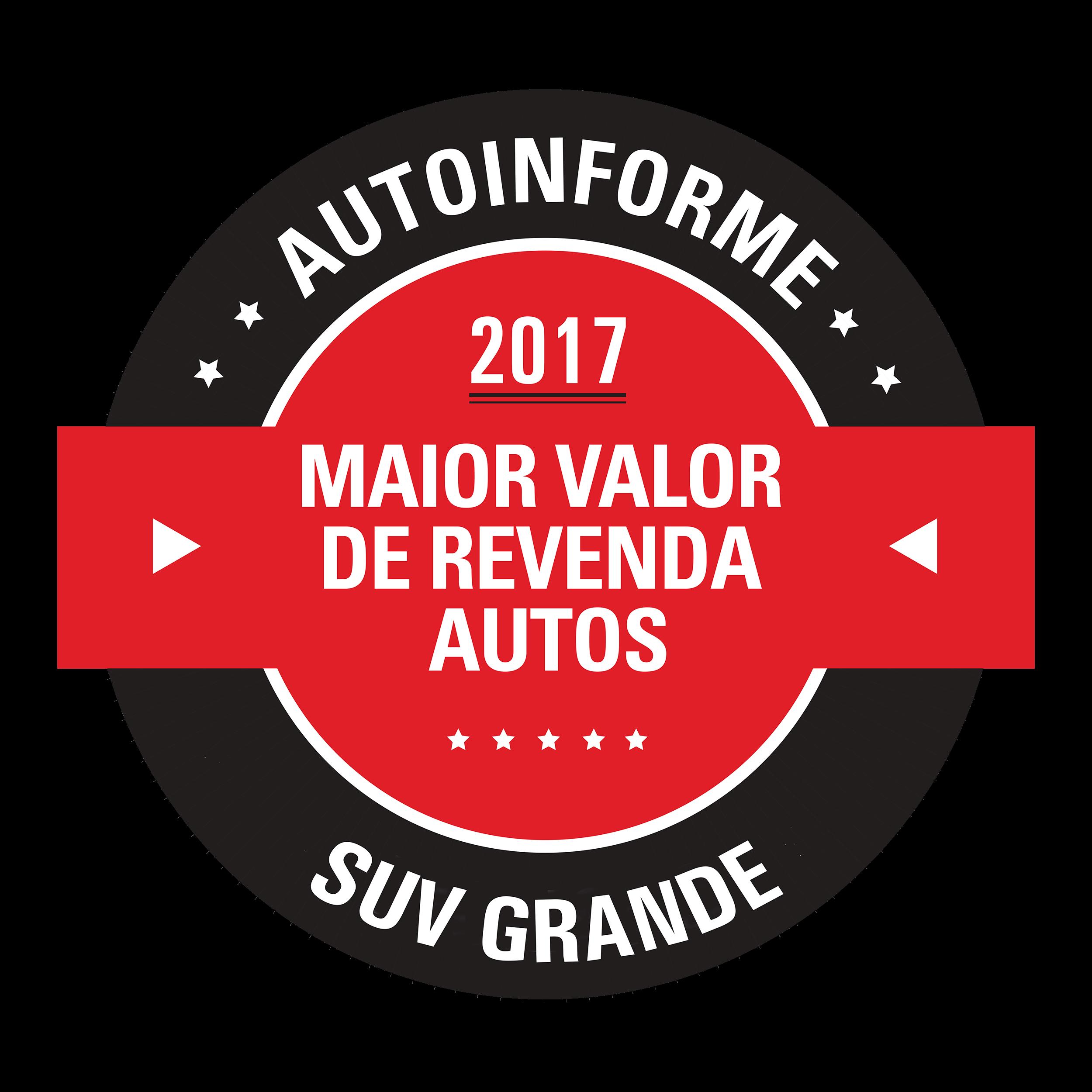 Vencedor na categoria SUV Grande