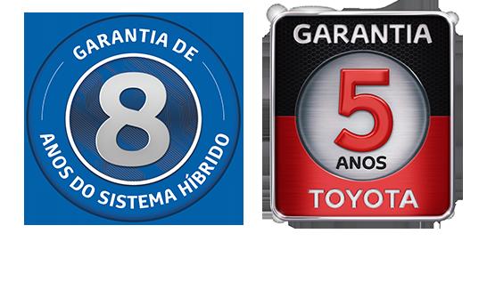 Garantia de oito anos para o sistema híbrido<sup>5</sup> e cinco anos para seu veículo<sup>6</sup>