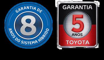DIFERENCIAIS - Garantia de oito anos para o sistema híbrido<sup>5</sup> e cinco anos para seu veículo<sup>7</sup>