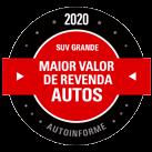 Maior Valor de Revenda 2020 (SUV grande)