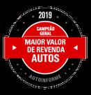 PRÊMIOS - Maior Valor de Revenda 2019 (Híbrido/Elétrico)
