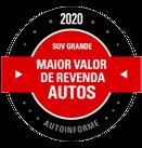 PRÊMIOS - Maior Valor de Revenda 2020 (SUV grande)