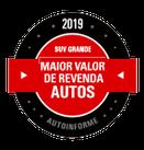 PRÊMIOS - Maior Valor de Revenda 2019 (SUV grande)