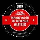 Maior Valor de Revenda 2019 (Hatch Compacto)