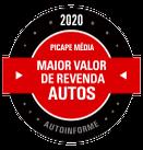 PRÊMIOS - Maior Valor de Revenda 2020 (Picape Média)