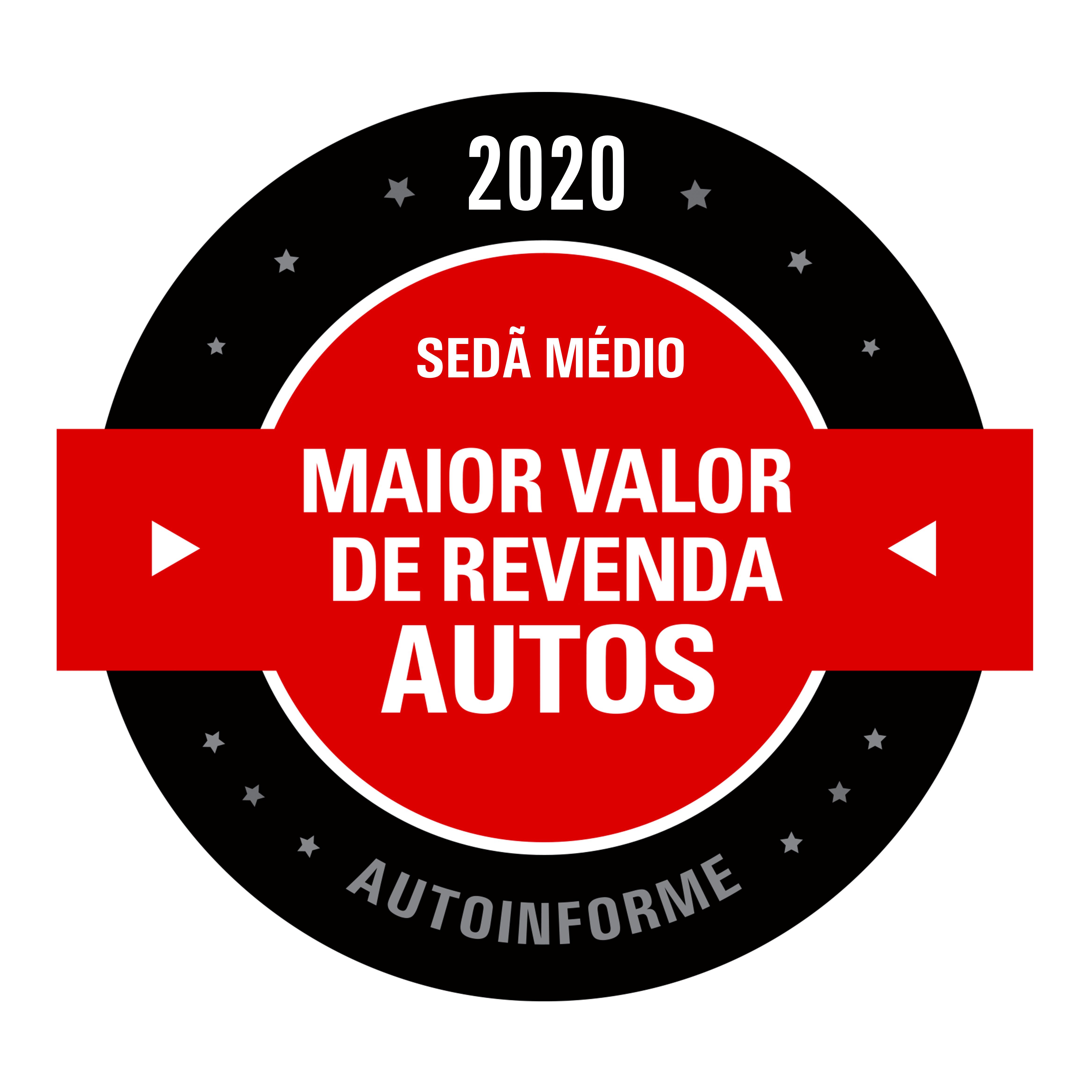 Maior Valor de Revenda 2020 (Sedã Médio)